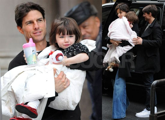 Photos of Tom Cruise, Katie Holmes, and Suri Cruise out in NYC