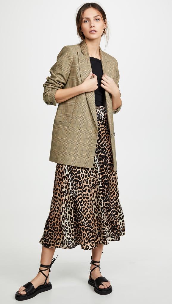 Ganni Silk Stretch Skirt