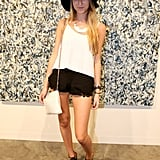 A floppy hat and lacy shorts brought the boho vibe.