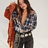 Urban Renewal Recycled Bleach Splatter Flannel Shirt