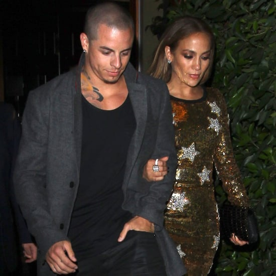 Jennifer Lopez and Casper Smart at Dinner Pictures