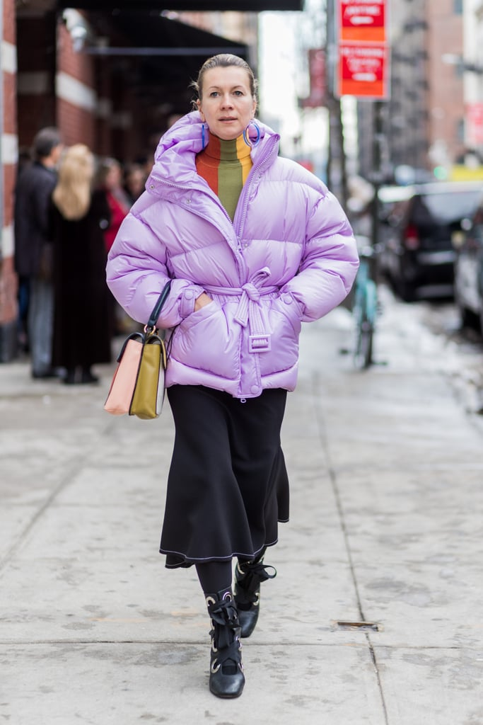 Stay Warm For Winter in a Purple Puffer Jacket