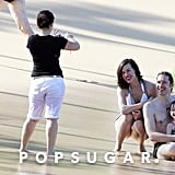 Milla Jovovich With Her Family on Vacation in Maui