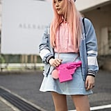 Amp Up a Pale Pastel Look With a Bright Bag