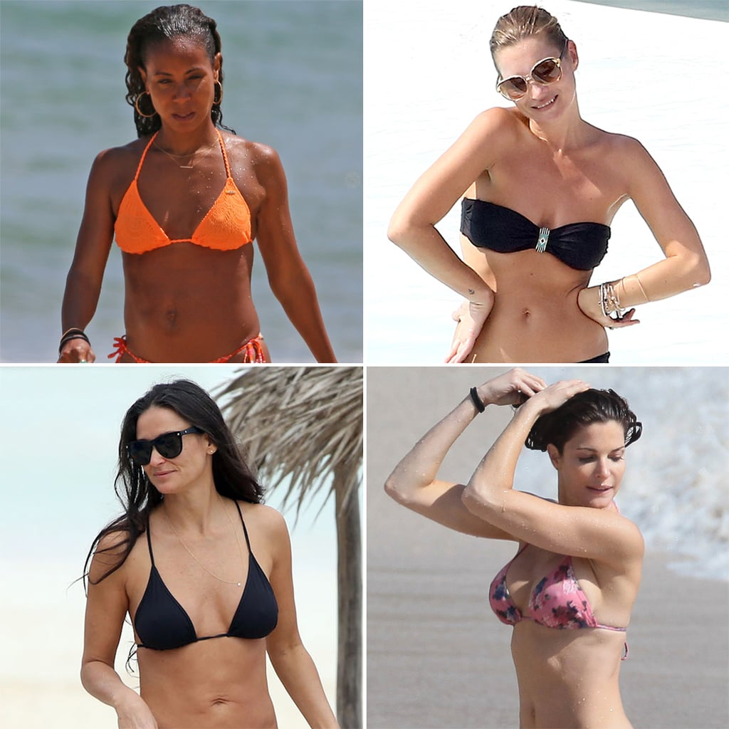 Celebrity wives in bikinis