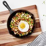 Corn-Edamame Hash With Fried Egg