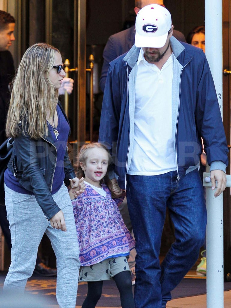 Leonardo DiCaprio and Jennifer Meyer walked with Ruby.