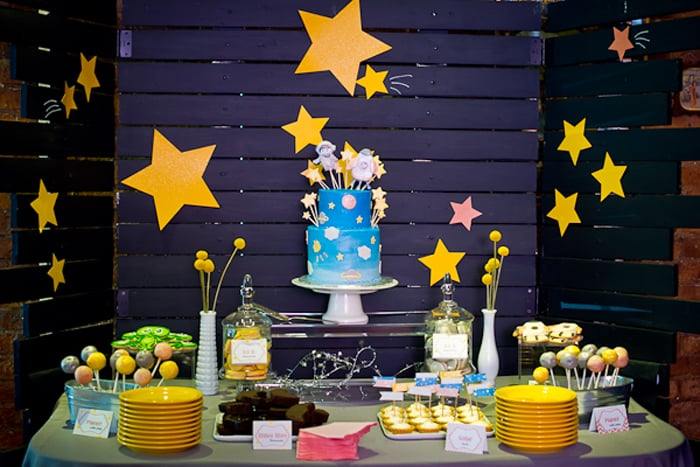 Dessert Table Space Baby Shower Ideas Popsugar Moms
