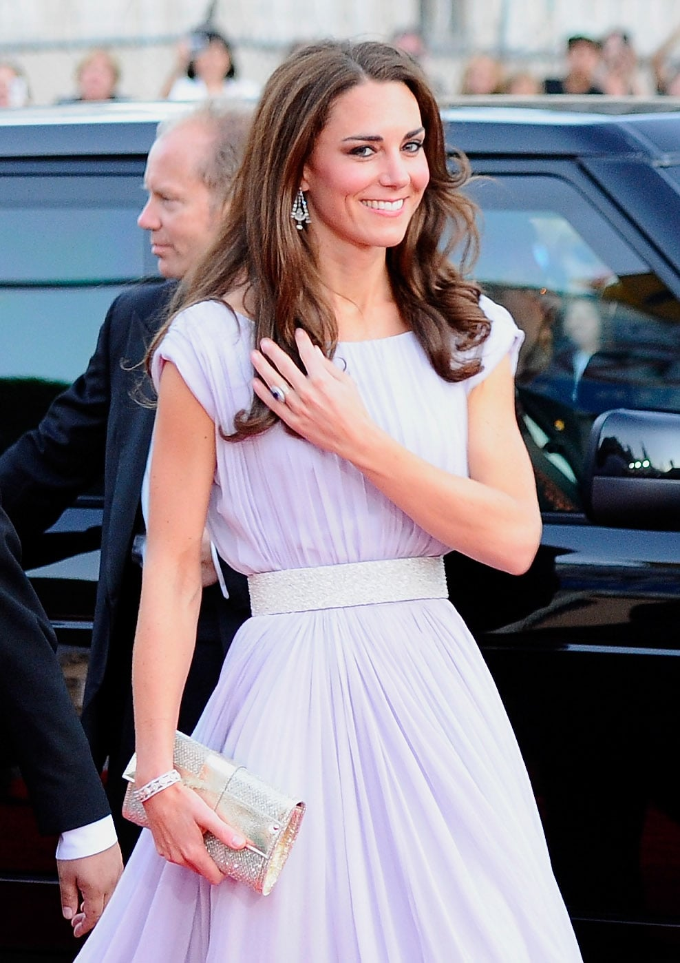 Kate Middleton wears Alexander McQueen to BAFTA reception in LA.
