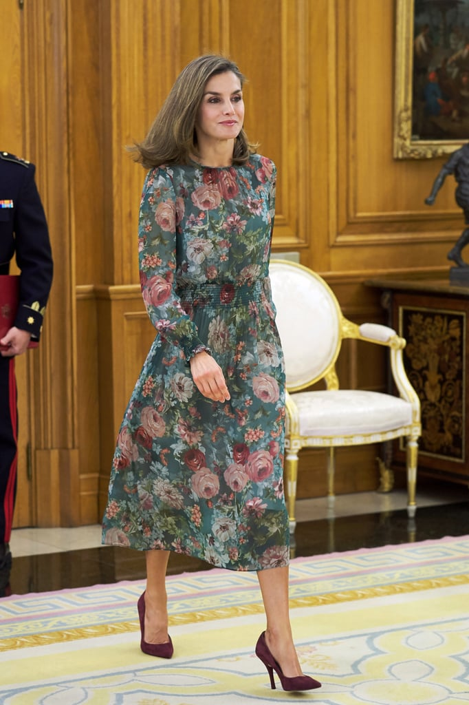 Queen Letizia Is Keeping Summer Alive With This $90 Floral Dress
