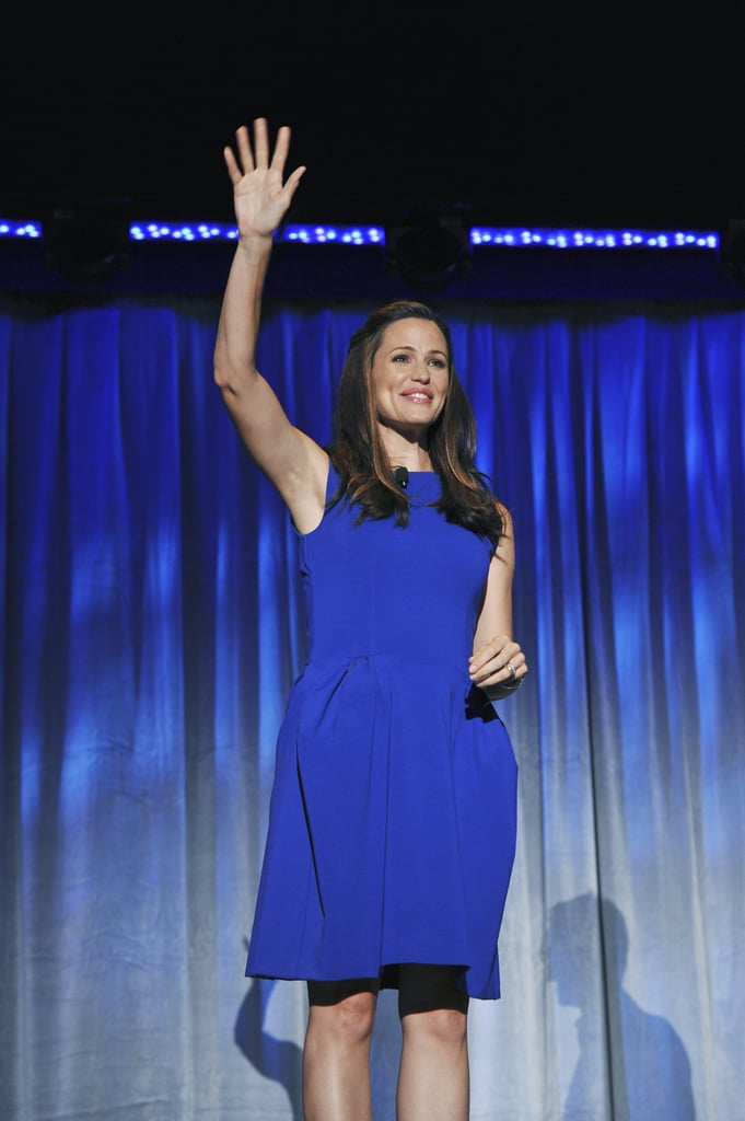 "Jennifer Garner charmed the audience Saturday at the D23 Expo in Anaheim as she presented an early look at The Odd Life of Timothy Green. The movie, due in theaters in 2012, stars Jennifer and Joel Edgerton as a couple who learn they can't have children of their own. One night after getting the sad news, the pair crack open some red wine and start listing the qualities they'd hope for in a child, and their dream of being parents finds a strange way of coming true. Jennifer said: ""I just fell for the story. I loved the magical element to it."" She also told the crowd that, as a mom, she liked the message of valuing what's different about every kid. The Odd Life of Timothy Green was one of several films previewed at the Disney Expo this weekend. The studio also shared early footage from The Avengers and John Carter, which stars Friday Night Lights alum Taylor Kitsch. Pixar presented its 2012-2014 slate, Jason Segel stopped by to talk about The Muppets, and fans got a peek behind the scenes of Oz: the Great and Powerful. Oz is currently filming in Detroit, so James Franco and his costars couldn't make it to California for this weekend's festivities. Despite it, director Sam Raimi sent a video message and shared a look at James in costume filming a scene opposite Michelle Williams, who — along with Rachel Weisz and Mila Kunis — plays one of the witches of Oz."