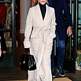 Lady Gaga Camel Coat by Gabriela Hearst January 2019