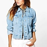 Boohoo Cindy Light Wash Denim Jacket