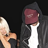 Robert Pattinson caught the Jay Z and Justin Timberlake concert with singer Sia Furler.