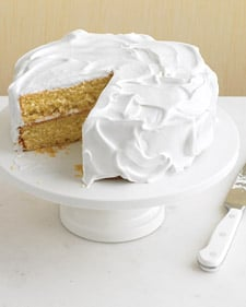 Easy Vanilla Cake With Whipped Frosting Recipe