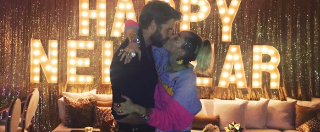 Miley Cyrus and Liam Hemsworth Ring In the New Year by Sharing a Sweet Kiss