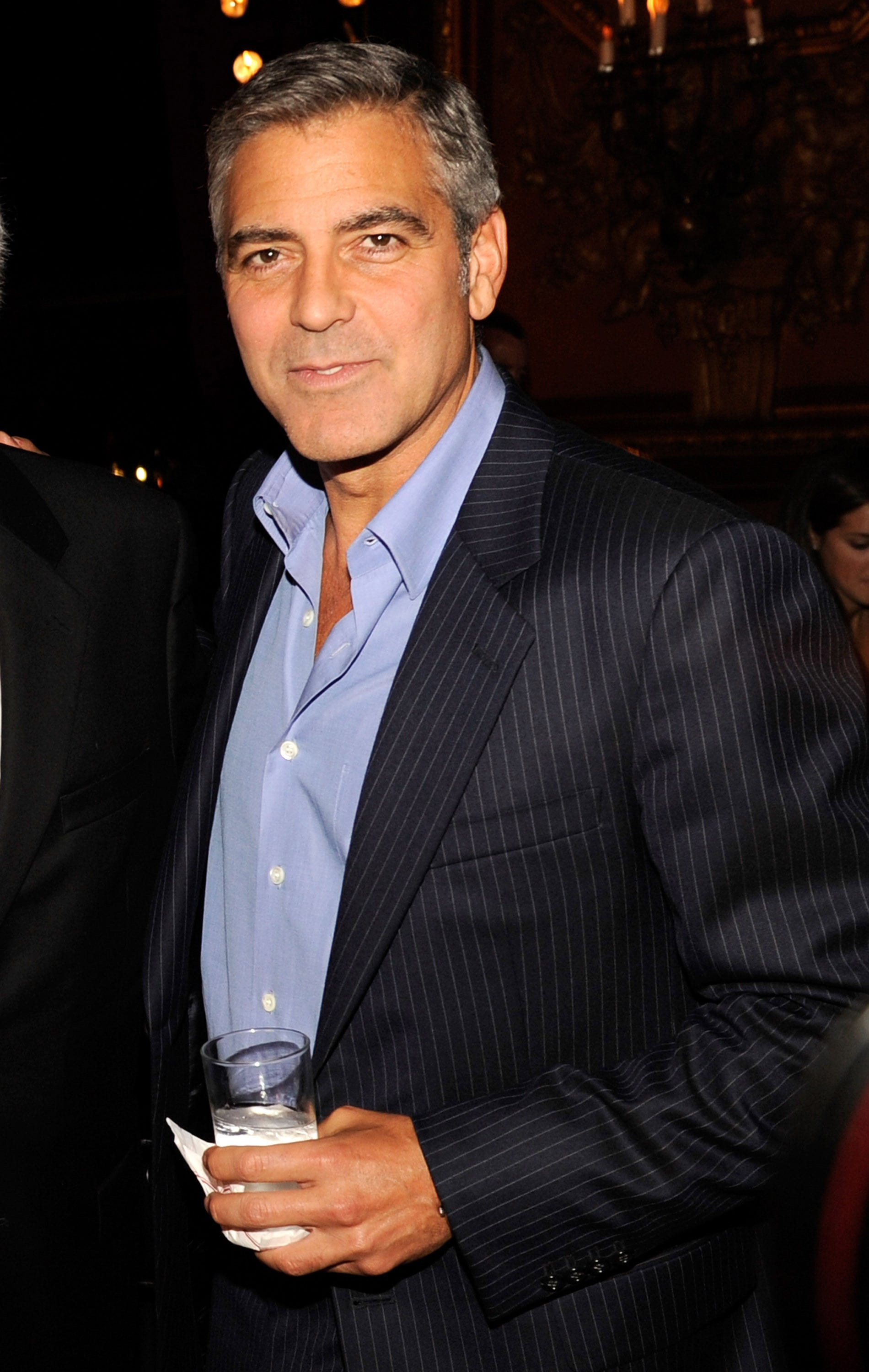 George Clooney at the The Ides of March afterparty.