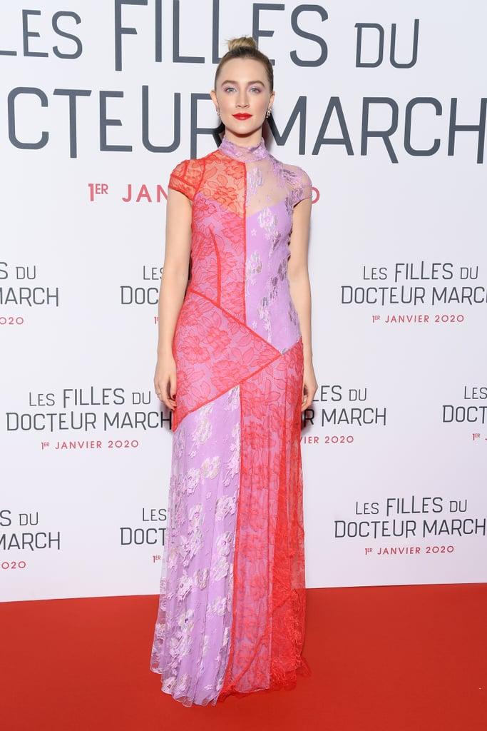 Saoirse Ronan at the Paris Premiere of Little Women, December 2019