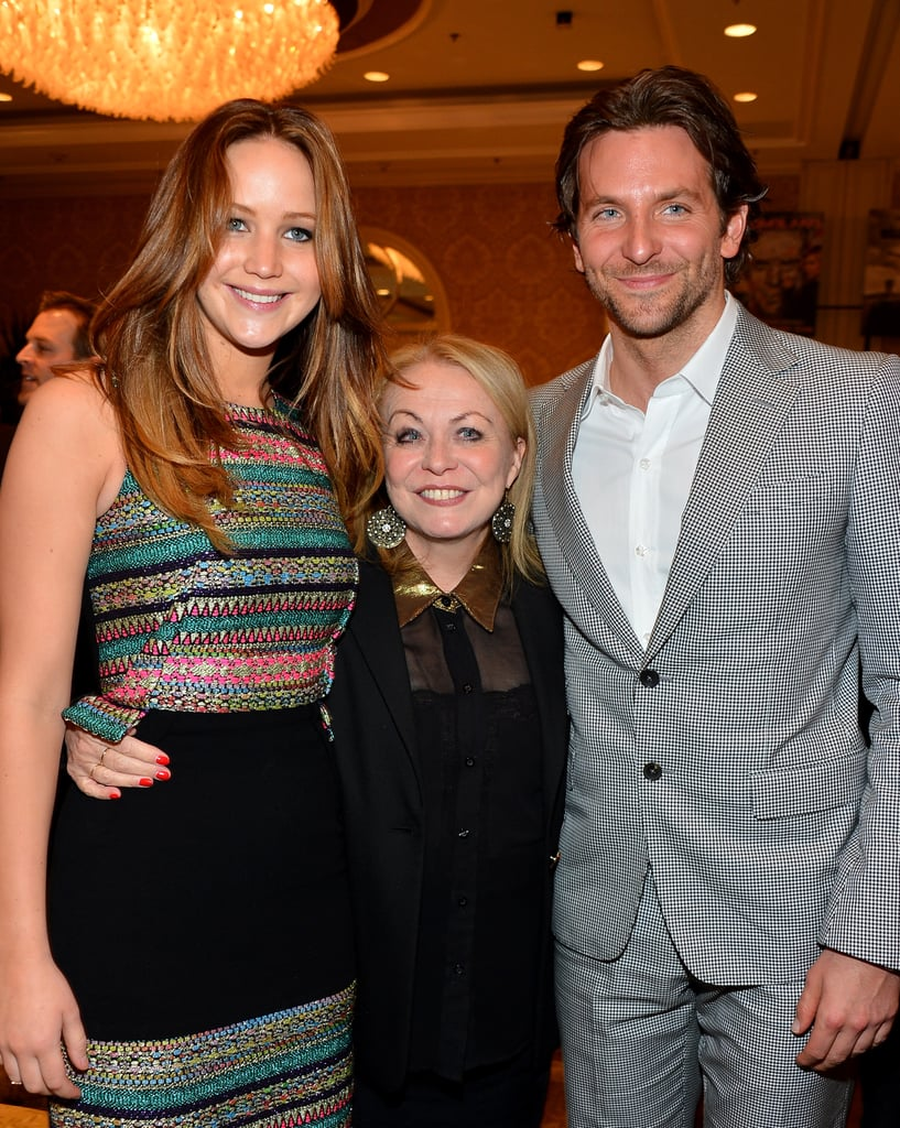 During January's AFI Awards, Bradley Cooper posed with his Silver Linings leading ladies Jennifer Lawrence and Aussie Jacki Weaver.