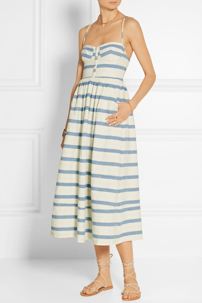 Mara Hoffman Striped Cotton Midi Dress ($285)