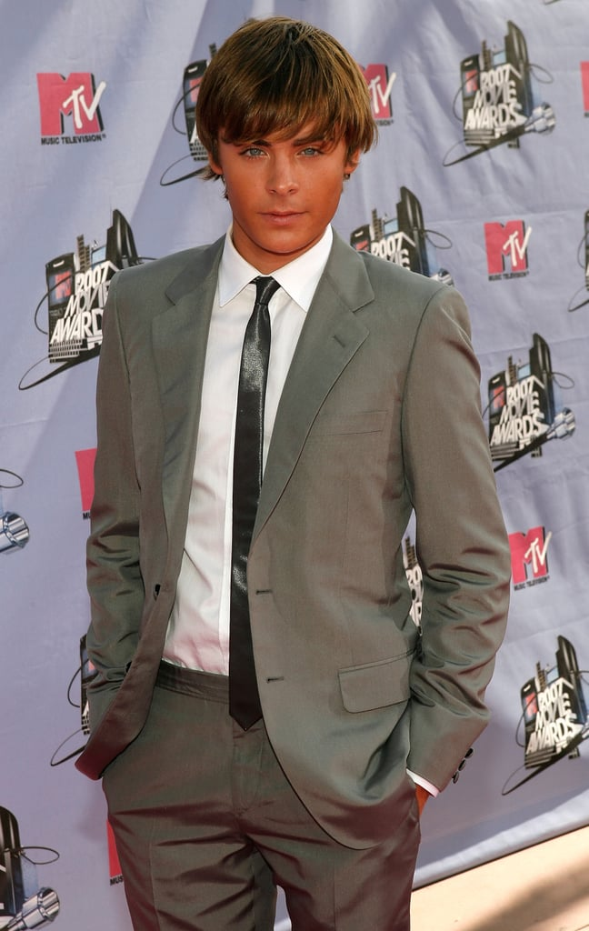Zac made his MTV Movie Awards debut in 2007 with this dapper (and tan!) look.