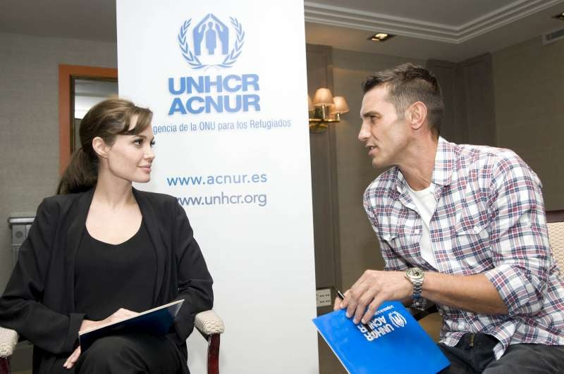 Pictures of Angelina Jolie in Spain Celebrating the UNHCR's 60th Anniversary
