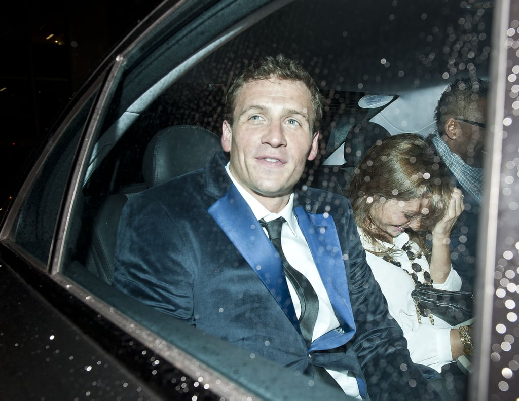 Ryan Lochte left London's hotspot club Mahiki.