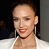 Jessica Alba With a Top Knot 2015