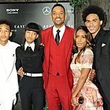 Will Smith and Trey, Jaden, and Willow Smith