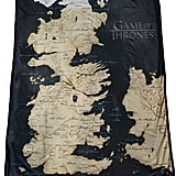 Map of Westeros Fleece Throw Blanket