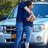 In October, Ashton Kutcher wrapped his arms around Mila Kunis in NYC.