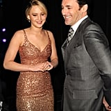 She Looked a Little Nervous Around Jon Hamm