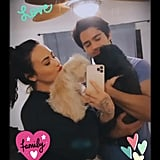 When Demi and Max Posed For This Cute Snap With Her Pups