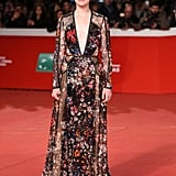 She wore a plunging Elie Saab gown to the Rome Film Festival in October.