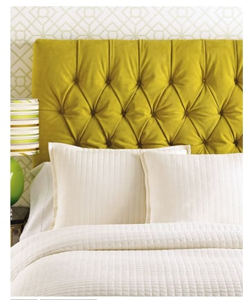 Love It or Hate It? Chartreuse Tufted Headboard