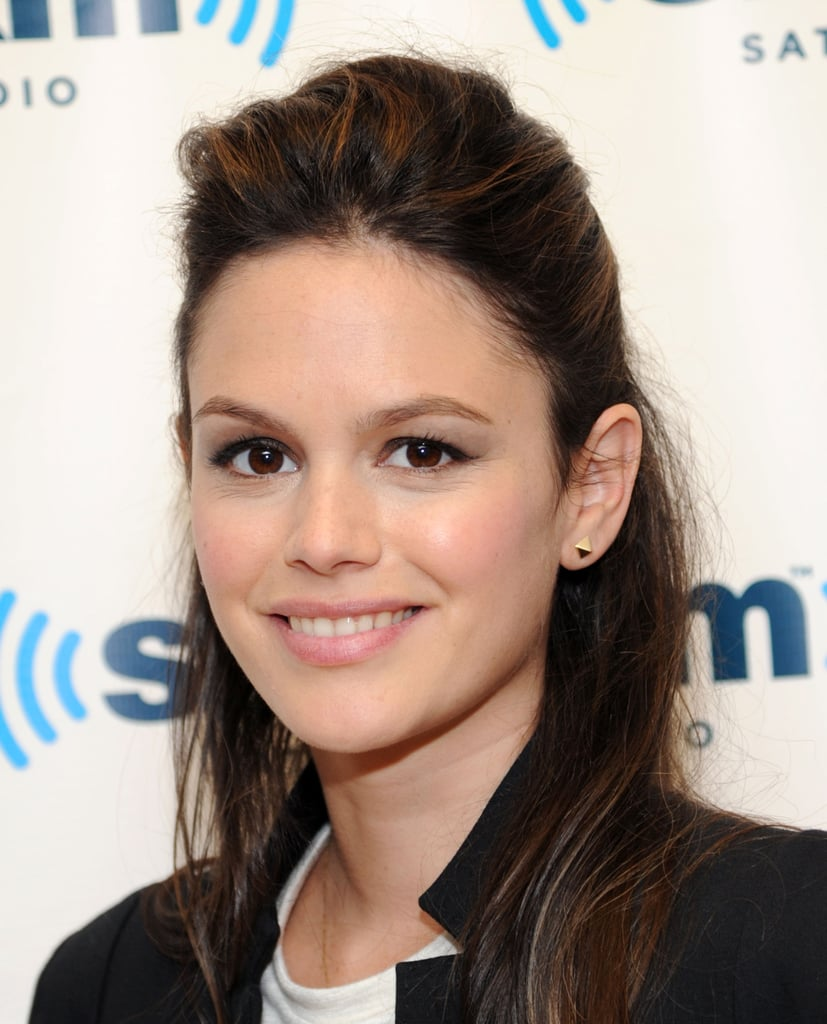 Wearing your hair half up isn't just for little girls. Rachel Bilson showed that a little extra oomph on the top is all you need to make this casual look feel grown-up. Just tease the hair at the roots before pulling your strands up and away.
