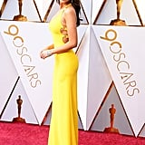 Looking Like a Ray of Sunshine in This Yellow Gown