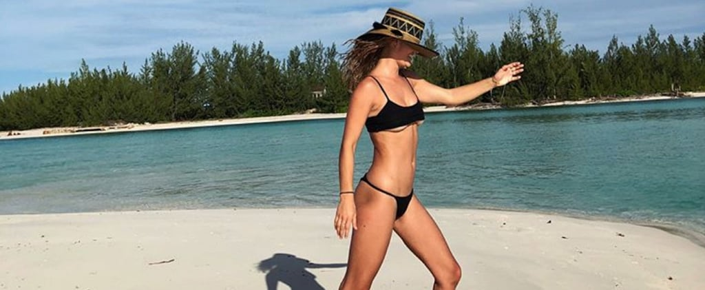Nina Agdal's Black Bikini