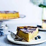 Lemon Turmeric Vegan Cheesecake With Blueberries