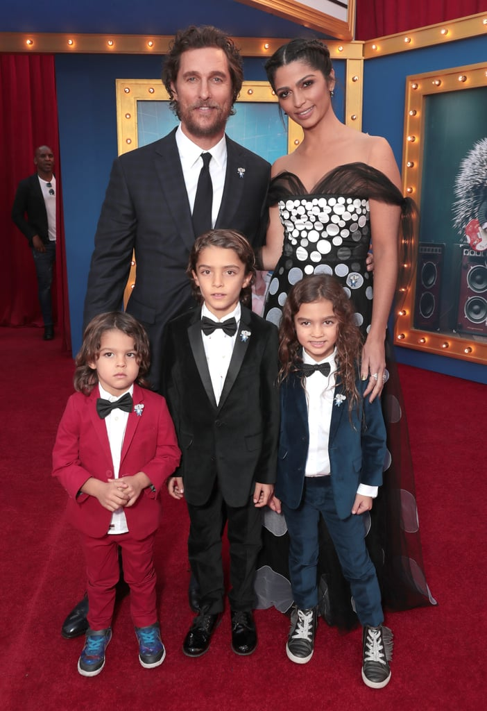 The premiere of Sing took over LA on Saturday evening and brought out of a handful of celebrity families, including Matthew McConaughey's. The actor, who lends his voice to Buster Moon in the movie, had the support of his beautiful wife, Camila Alves, and their three kids, daughter Vida and sons Levi and Livingston. Jennifer Hudson brought along her son, David Otunga Jr., and Kelly Rowland was accompanied by her son, little Titan Witherspoon. Also on hand for the event were Reese Witherspoon and her gorgeous family, along with Mario Lopez, his wife, Courtney Mazza, and their two kids, Gia and Dominic. The animated film is about a koala named Buster Moon who has one final chance to restore his theatre by producing the world's greatest singing competition. Check out the trailer now, and see the movie when it hits cinemas on Jan. 27.        Related:                                                                                                           Matthew McConaughey and Camila Alves Have Years of Adorable Moments