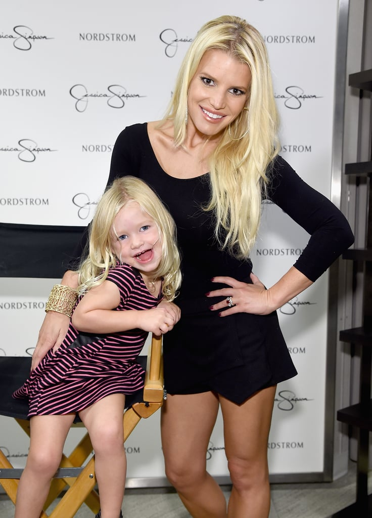 Ever since Jessica Simpson welcomed her daughter Maxwell with husband Eric Johnson in May 2012, the fashion designer has been flooding our Instagram streams with adorable photos of her and her mini me. Not only has little Maxwell inherited Jessica's posing skills, but she's also perfected her kissy face. Don't believe us? Keep reading and see for yourself.       Related:                                                                                                           Jessica Simpson Shares the Sweetest Family Snaps