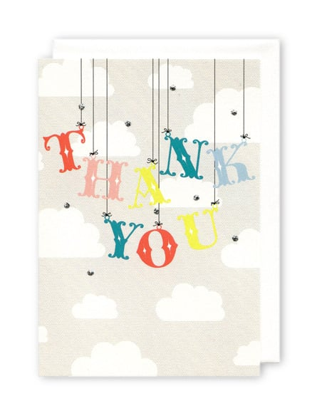 Clouds and Strings Thank You Cards
