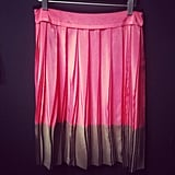 We got a taste of the Fall goods to come at Ann Taylor's Loft preview, like this pretty pink pleated skirt.
