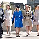 Peter, William, Kate, Autumn, Eugenie, and Beatrice