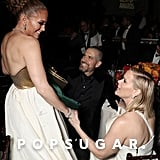 Jennifer Lopez, Jim Toth, and Reese Witherspoon at the 2020 Golden Globes