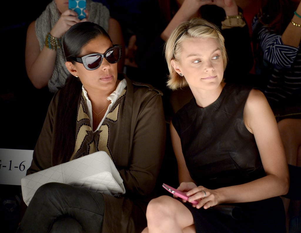 Rachel Roy and model Jessica Stam sat front row for Supima on Thursday.