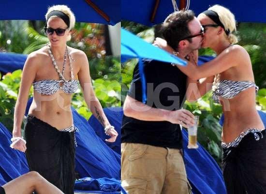 Photos of Sarah Harding in Bikini in Barbados PDA Fest Kissing With Boyfriend Tom Crane