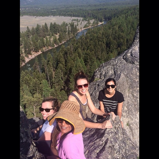 So jealous of Mindy Kaling's hike in beautiful Montana.