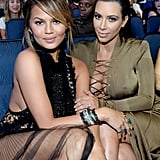 Chrissy Teigen and Kim Kardashian