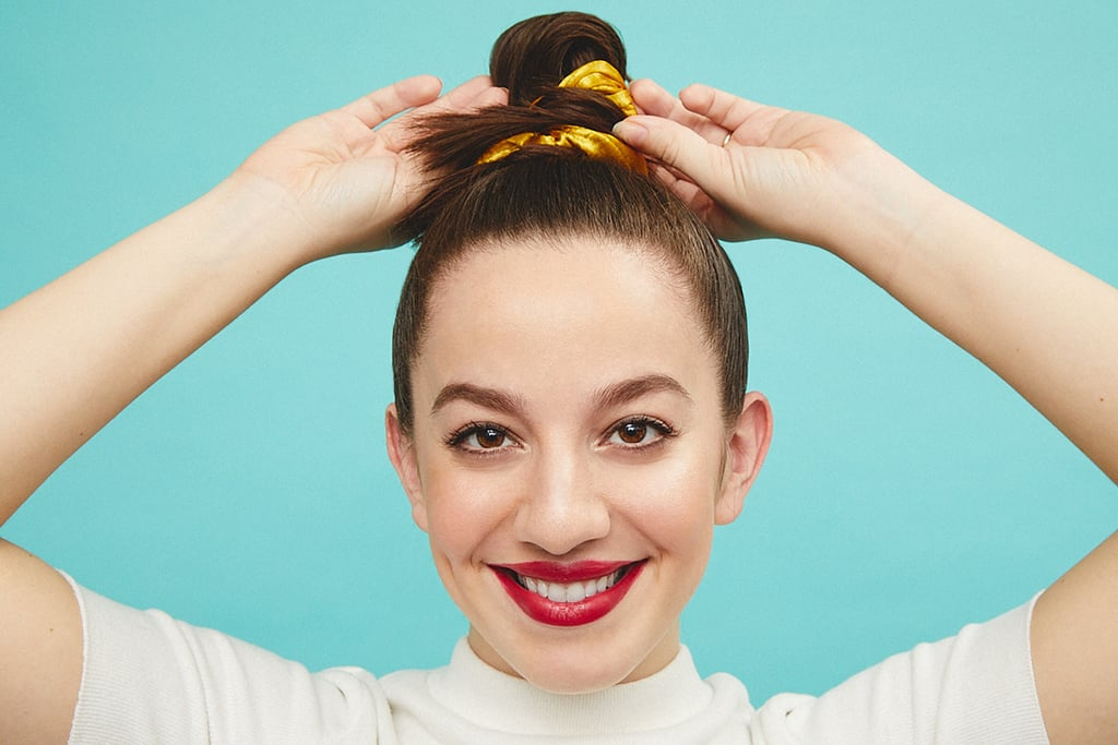 Look No. 1: Sleek Topknot With Scrunchie